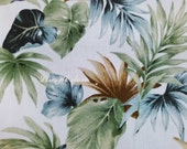 Leaves, off white, 1/2 yard, pure cotton fabric