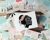 ON SALE - 2016 Katygirl Designs Whimsical, Hand Drawn Calendar - Refill Only