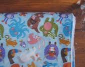 Baby Blanket for Girl or Boy - Colorful Animal Print with White Faux-Chenille Backing
