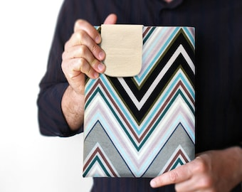 "Zigzag Tablet 10"" case - iPad 1 2 3 4 sleeve - iPad Air - Galaxy Tab 10.1 - Galaxy Note 10.1 - Kindle Fire 8.9 - Custom sizes"