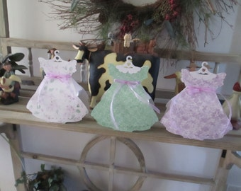 Little Girl Dress Favor Boxes Set of 12
