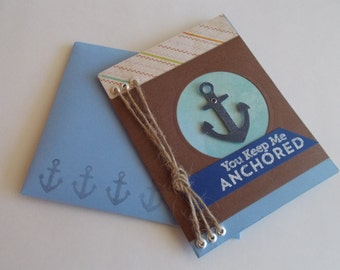 Nautical Themed Handmade Decorative 3D Greeting Card For All Occasions (8 Greeting Options Available)