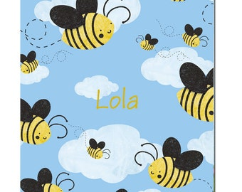 Buzzing Bees Fleece Blanket