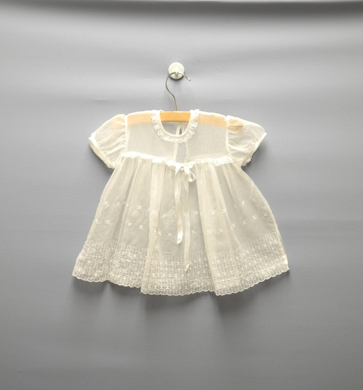 1950's Nannette Powder Blue Baby Dress  |1950 Baby Stuff