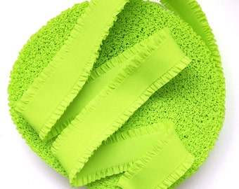 """2"""" Neon Yellow with Frills Stretch Elastic Band"""