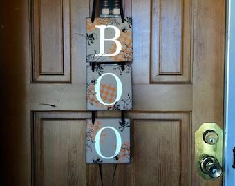 HALLOWEEN Decorations - Halloween Banner - Halloween Front door Decor- BOO Sign- Spooky Halloween decor - Holiday door decor