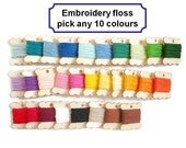 Embroidery thread floss duchess cross stitch cotton 8 metres wooden bobbin coloured thread sewing