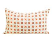 China Seas Cross Check lumbar pillow cover in New Shrimp on Tint