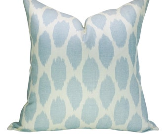 Quadrille Adras pillow cover in Soft Windsor Blue on Tint