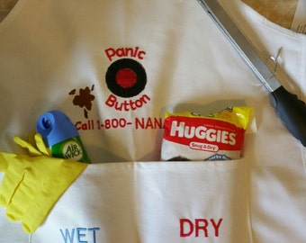 Embroidered Daddy Doo-ty (Duty) Apron - Perfect for new dad's Makes a great gift for dad so he doesn't feel left out and has a bit of humor