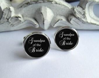 Wedding Cufflinks, Grandpa Of The Bride Cufflinks