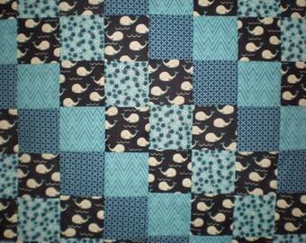 Little Whales Patchwork Quilt