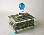 Handmade Gift Box With Small Turning Globe for Home or Office Decor