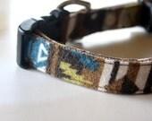 Southwestern Dog Collar - Green, brown, blue