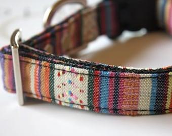 Guatemalan Woven Dog Collar - pink, purple, white