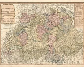 1794 Map of Switzerland