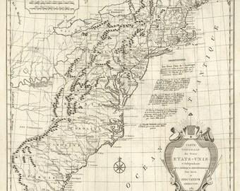 1784 Map of America