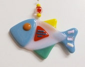 Fish Glass Ornament - Fused Stained Glass