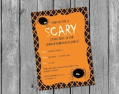 Printable Halloween Party Invitation / spider Halloween invitation / printable kids Halloween party invitation / Halloween invitation