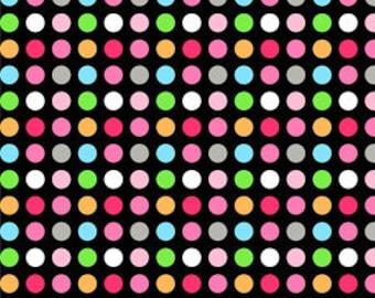 02989 - David Textiles  - Monkey dots in Black  - 1 yard