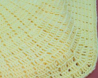 Yellow Baby Blanket, Baby Blanket, Baby Blanket Boy or Girl, Hand Crochet Baby Blanket, Handmade Baby Blanket, Crochet Baby Blanket, BB9999