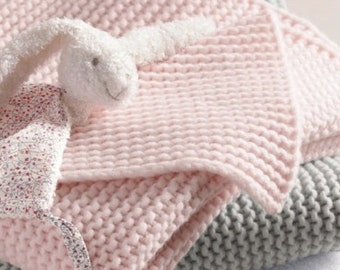 baby blanket knitting pattern for beginners easy baby crib throw organic cotton blanket pattern learn to knit diy blanket