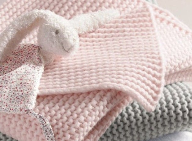 Knitting Patterns For Baby Blankets Easy : baby blanket knitting pattern for beginners easy baby crib