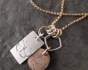 Boho Tag Chain ~ Butterfly