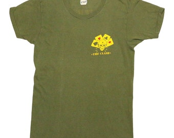 The Clash Combat Rock Shirt 1982 Vintage Tshirt 1980s Rare Army Green Tee L 80s