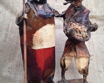 Vintage figures, primitive figurines