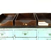 Vintage letter file tray / basket / box