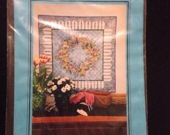 The Quilt Company Summer Bouquet Wreath Quilt Pattern