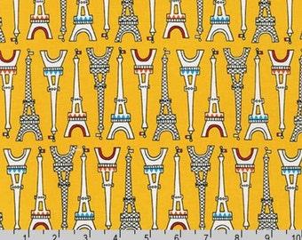 Oui Oui Paris - Bright Eiffel Tower Yellow by Suzy Ultman from Robert Kaufman