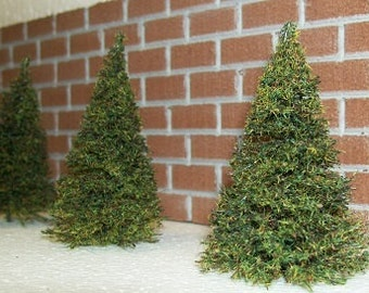 MINIATURE PINE TREES - Choose a Size - Weddings - Snow Globe Jar Diorama -  Doll House - Model Railroad & Fairy Garden Craft Supplies