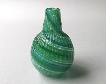 Mini Vase - Assorted Green Stripe : DISASTER RELIEF