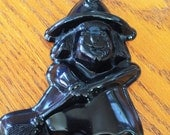 Vintage Cute Witch with Broom Halloween Soap Mold - HUGE!