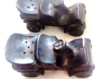 Model A Ford , Salt and Pepper Set , 1903 , Pewter Shakers