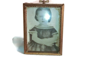 Early 19th Century Child , Portrait Photo , Frame