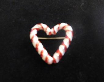 Heart Shaped Holiday Pin