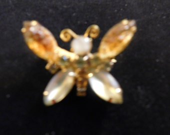 Gold and Pale green Butterfly Pin