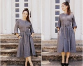 Grey Wool Dress // Stan Herman Skirt // rockabilly Swing // Size 10