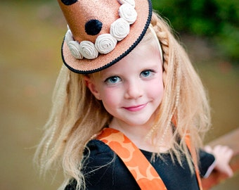 Vintage Inspired Witch Hat, Girl's Halloween Costume