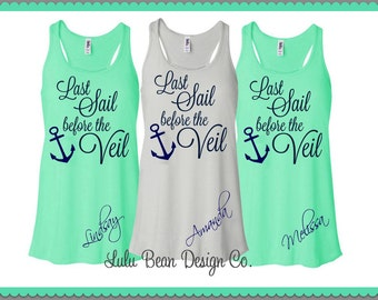 6 Last Sail Before the Veil Tank Tops Perfect for Bachelorette Parties