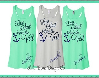 1 Last Sail Before the Veil Tank Top Perfect for Bachelorette Parties