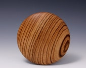 """A  5"""" ZebraWood Round Wooden Rib for Throwing Perfect Bowls Re-design by Hsinchuen Lin 林新春"""