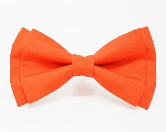 Red Orange Bow Tie for all ages - pre tied bowtie