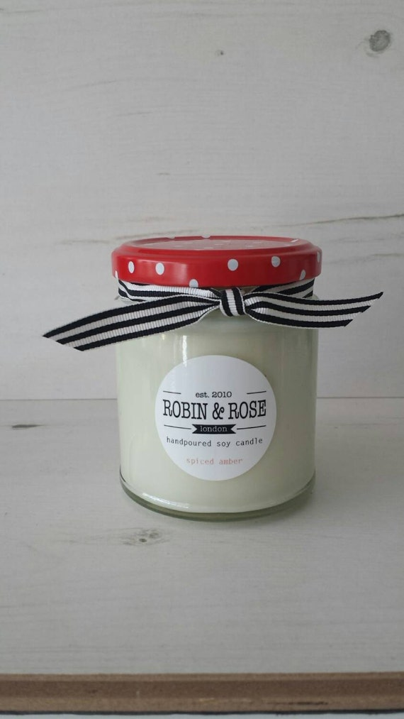 Spiced Amber Handpoured Soy Candle 7oz Jar