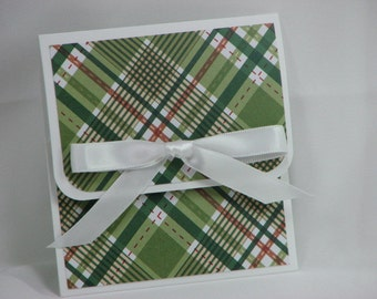 Give Me Plaid Merry Christmas Gift Card Holder