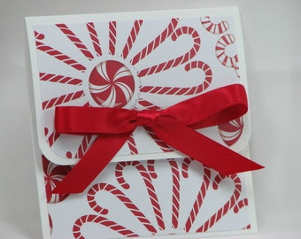 Peppermint Wreaths Merry Christmas Gift Card Holder