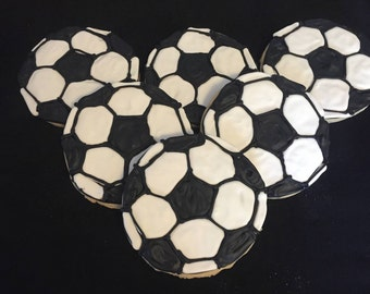 Soccer sport Personalized Sugar Cookie Party Favors
